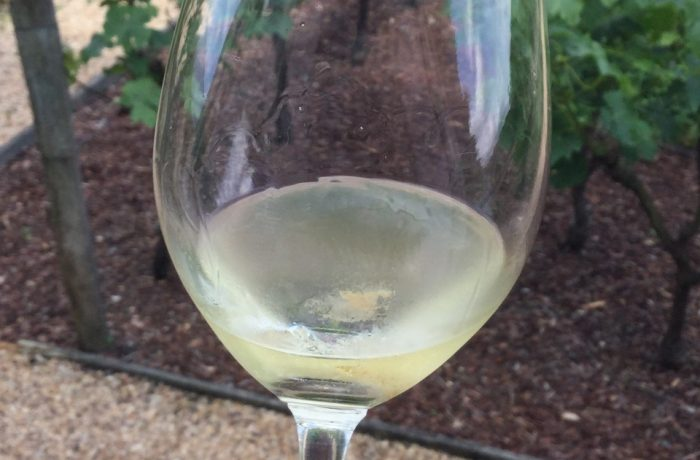 crystals in white wine